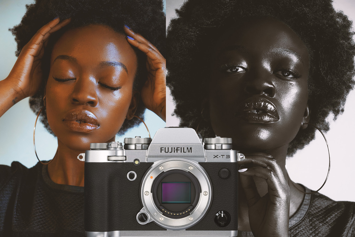 Fuji XT3 portrait of black woman model
